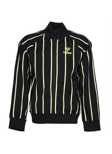 Hummel Hummel 9207692001 Aceline Fermuarlı Cepli Çizgili Erkek Çocuk Sweatshirt Siyah